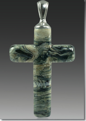 Black Granite Cremation Cross