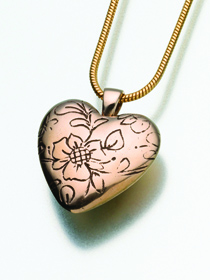 Cremation Floral Heart