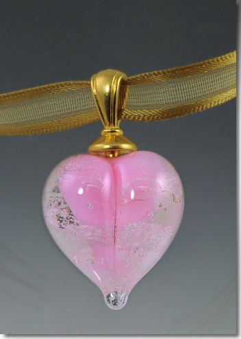 Pink Cremation Heart