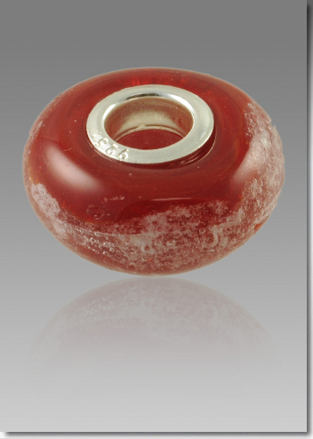 Red Cremation Bead