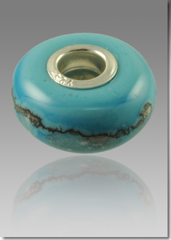 Turquoise Cremation Bead