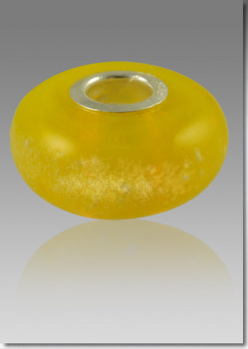 Yellow Cremation Bead